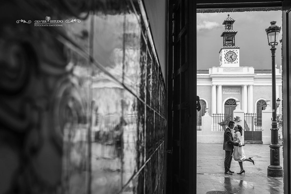 fotografia de bodas en blanco y negro Olivier fotografía