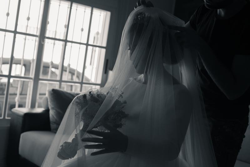 contraluz novia en cadiz